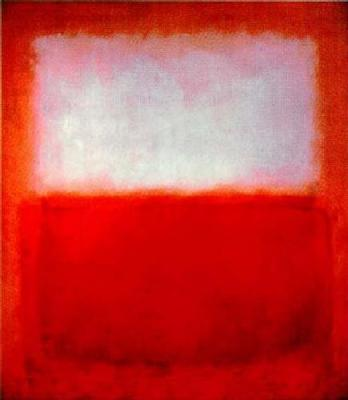 Mark Rothko White over red